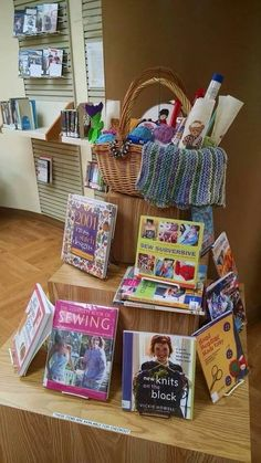Crafts and knitting library display