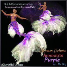 Merchant: **Tir Na Nog** Prize Name: Merman Costume =Ammolite Purple= Prize Type: Men's Apparel Merman Costume, Men's Apparel, Japan, Costumes, Type, Purple, Dress Up Clothes, Japanese Dishes, Costume
