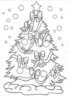 Christmas tree – coloring page: Make your world more colorful with free printable coloring pages from italks. Our free coloring pages for adults and kids. Christmas Tree Coloring Page, Christmas Coloring Sheets, Coloring Book Pages, Printable Coloring Pages, Free Coloring, Coloring Pages For Kids, Kids Coloring, Disney Christmas, Christmas Crafts
