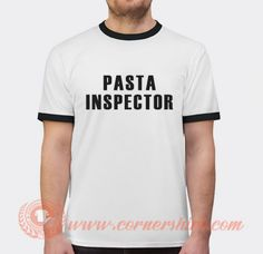 Pasta Inspector Icarly American Sitcom T-shirt Price: 17.00 Custom T, Custom Design, Popular Clothing Stores, Icarly, Shirt Price, American, Spaghetti, Mens Tops, T Shirt