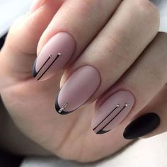 65 Gorgeous Almond Matte Nail Designs You'll Love Almond matte nails can be seen everywhere in the street. They are one of the most popular nail shapes. This nail shape is named Gorgeous Nails, Love Nails, Pretty Nails, My Nails, Square Nail Designs, Black Nail Designs, Nail Art Designs, Fancy Nails Designs, Fancy Nail Art