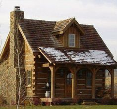 Log Home - I would want a small one, maybe loft bedroom?