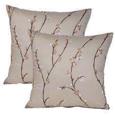 Calico Flax 17-inch Throw Pillows