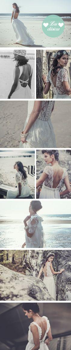 Los vestidos de novia de Laure de Sagazan son puro amor y lo mejor de todo... sus espaldas. Avisamos... vas a querer casarte.
