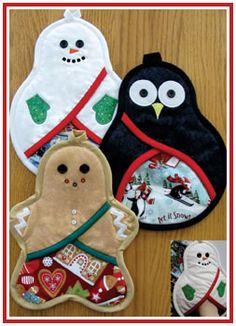 Christmas Trio Of Pot Holders [#VL-1412] - $9.00 : Susie C Shore Designs !