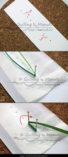 Grass---Part 1 of 4---written directions on post---http://manuk.ro/en/2013/04/quilled-ladybugs-in-the-grass-with-tutorial/