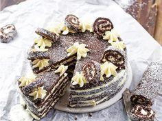 Cookie Recipes, Dessert Recipes, Birtday Cake, Torte Cake, Cake Cookies, No Bake Cake, Fudge, Healthy Snacks, Food Porn