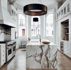 Most Stunning Modern Marble Kitchens 44