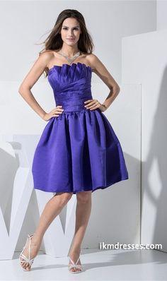 -Line Strapless Hourglass Sleeveless Knee-Length Bridesmaid Dress http://www.ikmdresses.com/A-Line-Strapless-Hourglass-Sleeveless-Knee-Length-Bridesmaid-Dress-p19696