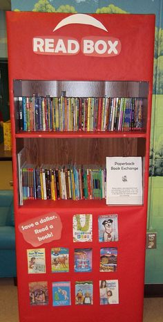 "A Red Box ""Read Box"" in the book area.  We can place our favorite books in this shelf so that we can find them easier"