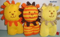 Leo the hand knitted lion by AniramCreates on Etsy, £12.00