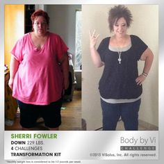 Check out what Terry Fowler accomplished on the Body By Vi 90 day challenge www.x10challenge.myvi.net  www.x10challenge.bodybyvi.com