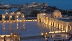Discover how iGuzzini enhances cultural places, galleries, stores and hotels through the subtlety of innovative lighting and creative design. Facade Lighting, Lighting Design, Islamic World, Place Of Worship, Santorini, Outdoor Lighting, Light Up, Architecture, Building