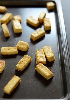 Easy! Bake the tofu!!! How to Make Tofu that Tastes Good!