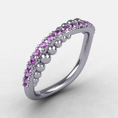 Natures Nouveau 10K White Gold Lilac Amethyst Pearl by artmasters, $649.00  This would go beautifully with my engagement ring :)