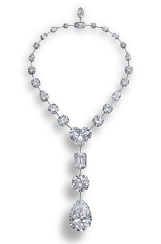 The Lesotho Promise necklace by Graff with 26 diamonds (all D FL) from one 603 carat rough diamond