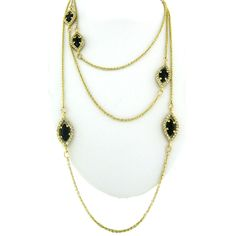 Onyx Cat's Eye Necklace paradiso jewelry genuine gemstones