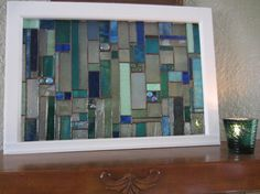 Stained Glass Art Hanging  Fireplace Mantle by stanfordglassshop