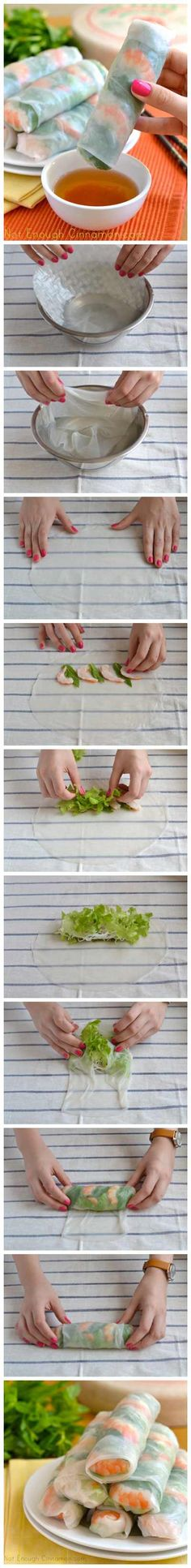 Vietnamese Fresh Spring Rolls Discovered last fall, they are so delicious, reasonably easy to make and healthy too! Summer Rolls, Spring Rolls, Vietnamese Recipes, Asian Recipes, Vegetarian Recipes, Cooking Recipes, Healthy Recipes, Eat Better, Cuisine Diverse