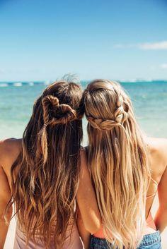 fresh spring braids | Valentines Day Hair Ideas | Vacation Hair Ideas | Half Up Half Down Braid Ideas