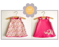 Reversible A Line Dress Pattern/ Toddler dress pattern/ Girl's Dress Pattern/ Baby dress patern/Girl's Sewing Pattern. Easy Size 0-24 months