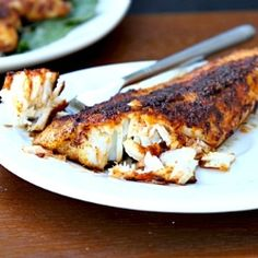 Blackened Tilapia recipe... A little salty, but good. I will cut the salt in half the next time.