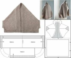 p/ponchos-cardigan-knitting-bluse-lace-hakeln delivers online tools that help you to stay in control of your personal information and protect your online privacy. Poncho Crochet, Crochet Shrug Pattern, Cardigan Pattern, Jacket Pattern, Crochet Blouse, Crochet Lace, Easy Knitting Patterns, Hand Knitting, Sewing Patterns