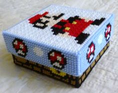 Plastic Canvas Mario Trinket Box
