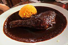 Mexican Food (chicken mole) April, 2015 Guanajuato, Mexico ESLVentures.com