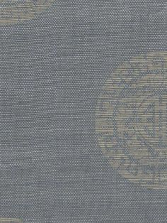 Love the medallion pattern on this grasscloth, which is $300/roll. Stencil on grasscloth?