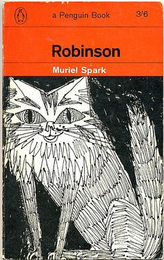 Robinson by Muriel Spark. 1964. Cover drawing by Terence Greer. Penguin Books (vintage art, illustration, illustrator)