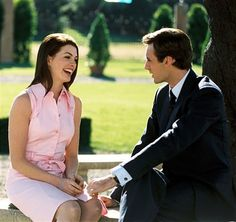Still of Anne Hathaway and Callum Blue in The Princess Diaries 2: Royal Engagement