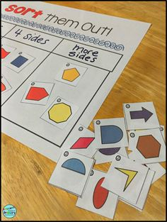 2D Geometry and dabbling with Inquiry based teaching - sorting by attrtibutes.  Use paper shapes or use manipulatives in the classroom.