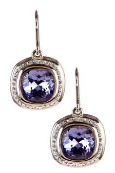 Sterling Silver Crystal Drop Earrings  Really love these!!