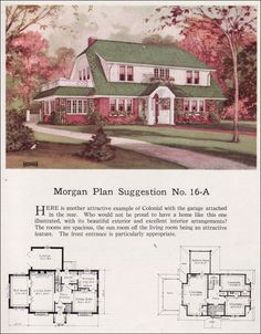 1920s Vintage Home Plans   Dutch Colonial Revival   The Washington     Grew up in a house quite similar to this 1923 Morgan Sash   Door   16A