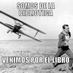 """""""Somos de la Biblioteca: venimos a por el libro"""""""