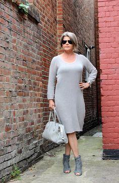 Net Grey Dress