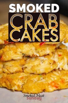 Crab Cakes Traditionally theyre fried but we think everything tastes better with a little woodfired kiss So were gonna smoke em If youre looking for a simple seafood appe. Grilled Seafood, Seafood Appetizers, Seafood Recipes, Appetizer Recipes, Traeger Recipes, Grilling Recipes, Crab Cakes, Pellet Grill Recipes, Gluten Free Puff Pastry