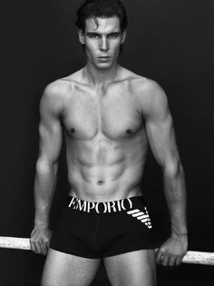 13 rafael nadal armani - fittest bodies in sports....Nadal is probably best known for his guns, but this tennis great also has a very impressive core....Please Follow me - Thank you   #sexy #workout #fitness