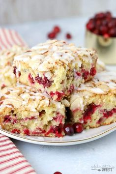 Veganize -Almond Cranberry Cake - A soft and fluffy almond flavored cake filled with fresh cranberries and topped with a buttery almond streusel. A delicious and comforting breakfast or dessert for the holiday season. Fall Desserts, Just Desserts, Best Coffee Cake Recipe Ever, Best Recipe Ever, Cupcakes, Cupcake Cakes, Cranberry Cake, Cranberry Almond, Cranberry Coffee Cake Recipe