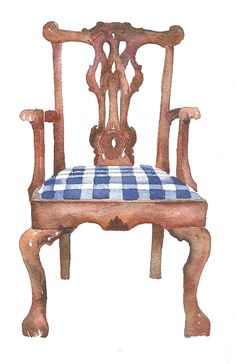 Watercolor Chair by Amy Woods