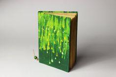 Green Batik Journal diary notebook old paper batik by Patiak