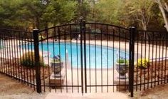 wrought iron fence around pool - Google Search