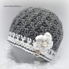 """Čepička """"starmin"""" · Návody háčkování Krampolinka Crochet Stitches, Knit Crochet, Crochet Hats, Beanie, Sewing, Knitting, Crocheting, Beanies, Places"""
