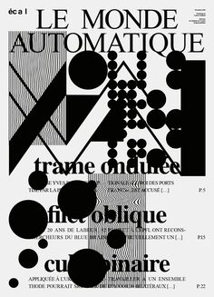 "écal Workshop Newspaper ""Le monde Automatique"" at La Art Book Fair, from February 12 to 14 2016 (on the way of Ludovic Balland)"