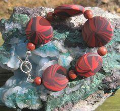 Handmade saucer beads.
