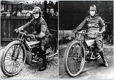 Two more dirt track racers from the late 1920s - Babs Neild and Dot Cowley.