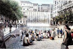 Milano, pareti d'acqua e piazza multimediale: l'Apple Store di Foster