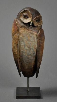 Hib Sabin ~ The Sleeper ~ Bronze - Keramik - Kunst Pottery Animals, Ceramic Animals, Ceramic Birds, Ceramic Art, Pottery Sculpture, Bird Sculpture, Abstract Sculpture, Sculpture Ideas, Sculptures Céramiques