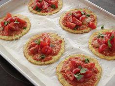 Get Mini Cauliflower Pizzas Recipe from Food Network